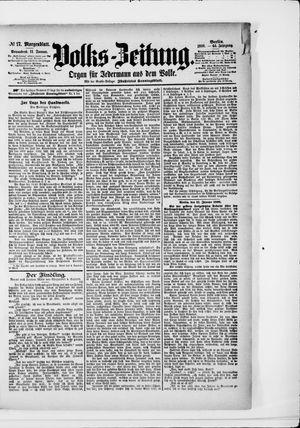 Volks-Zeitung vom 11.01.1896