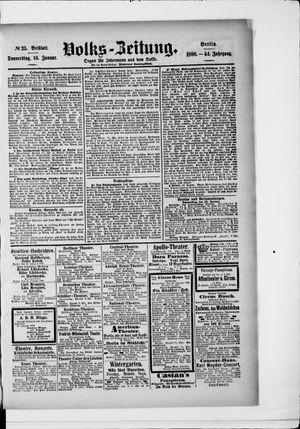 Volks-Zeitung vom 16.01.1896