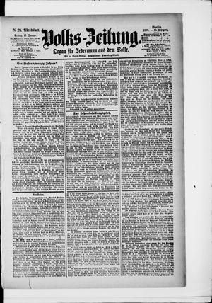Volks-Zeitung vom 17.01.1896