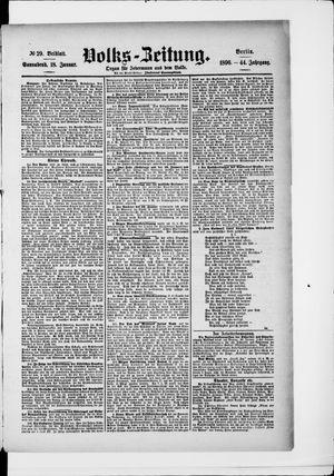 Volks-Zeitung vom 18.01.1896