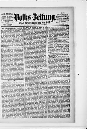 Volks-Zeitung vom 20.01.1896