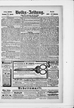 Volks-Zeitung vom 21.01.1896