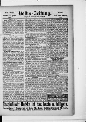 Volks-Zeitung on Jan 22, 1896