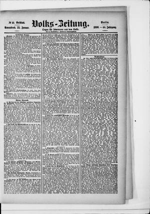 Volks-Zeitung vom 25.01.1896