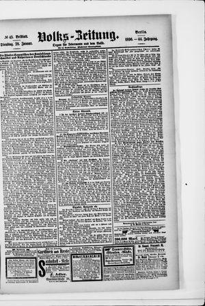 Volks-Zeitung on Jan 28, 1896