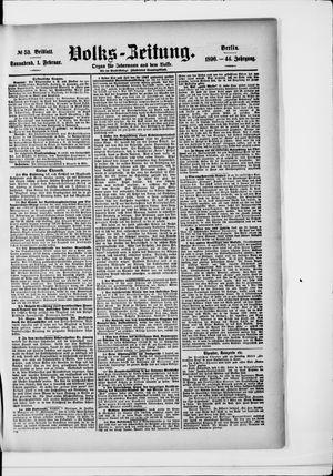 Volks-Zeitung vom 01.02.1896