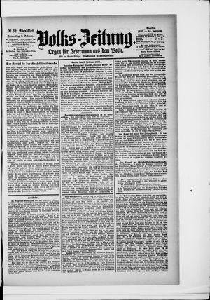 Volks-Zeitung vom 06.02.1896