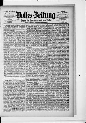 Volks-Zeitung vom 10.02.1896