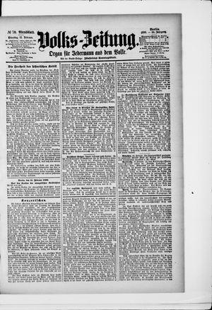 Volks-Zeitung vom 11.02.1896