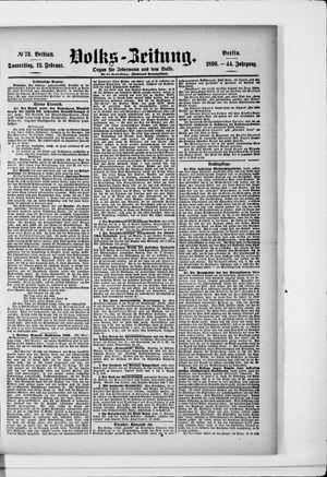 Volks-Zeitung vom 13.02.1896
