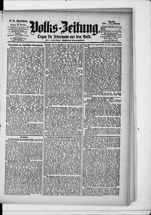 Volks-Zeitung vom 14.02.1896