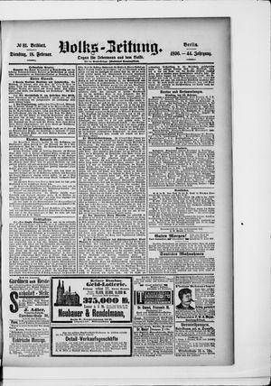 Volks-Zeitung vom 18.02.1896