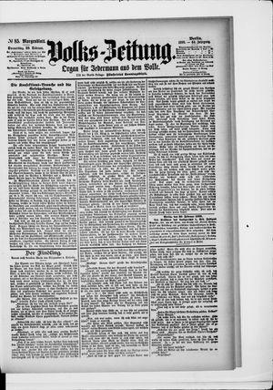 Volks-Zeitung on Feb 20, 1896