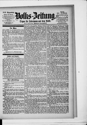 Volks-Zeitung vom 21.02.1896
