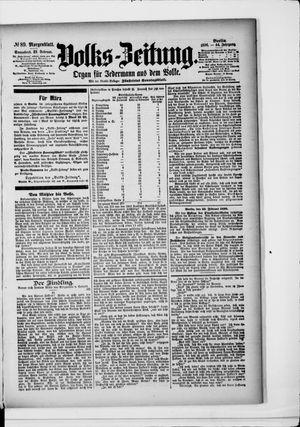 Volks-Zeitung vom 22.02.1896