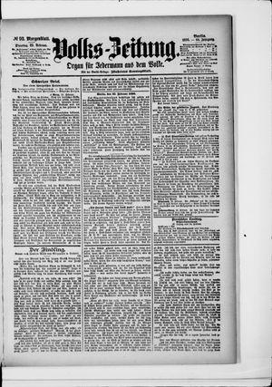 Volks-Zeitung vom 25.02.1896