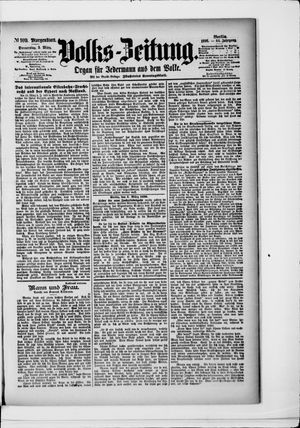 Volks-Zeitung vom 05.03.1896