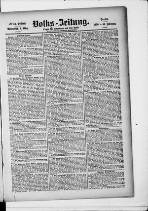 Volks-Zeitung vom 07.03.1896