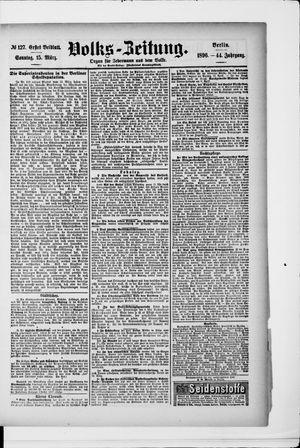 Volks-Zeitung vom 15.03.1896
