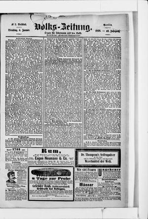 Volks-Zeitung vom 04.01.1898