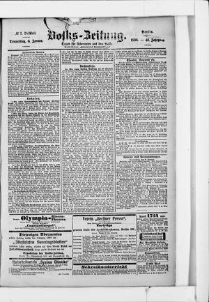 Volks-Zeitung vom 06.01.1898