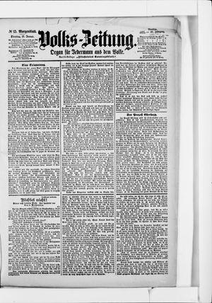 Volks-Zeitung vom 11.01.1898