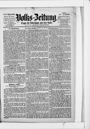 Volks-Zeitung vom 12.01.1898