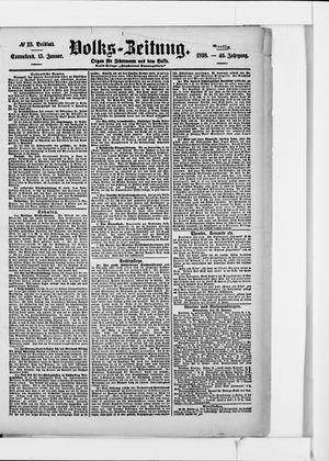 Volks-Zeitung vom 15.01.1898
