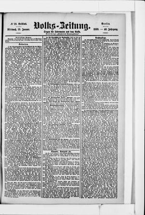 Volks-Zeitung vom 19.01.1898