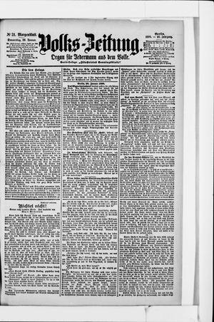 Volks-Zeitung vom 20.01.1898