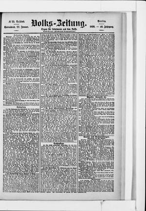 Volks-Zeitung vom 22.01.1898