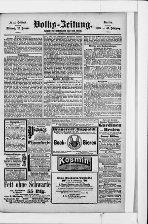 Volks-Zeitung vom 26.01.1898