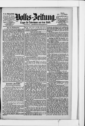 Volks-Zeitung vom 27.01.1898