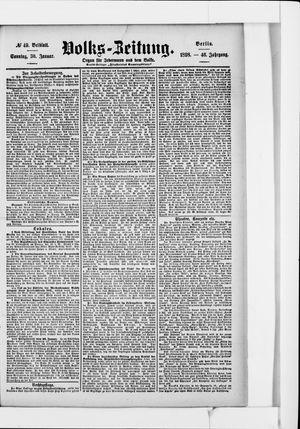 Volks-Zeitung vom 30.01.1898
