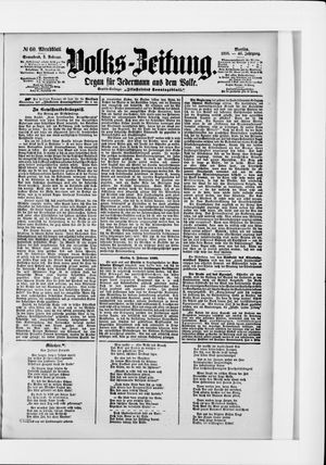 Volks-Zeitung vom 05.02.1898