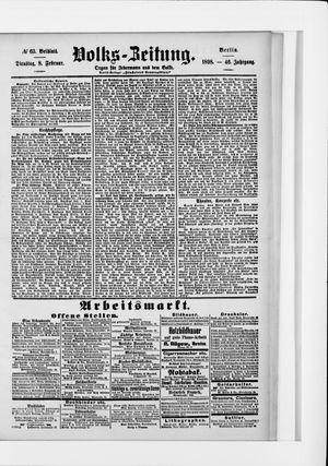 Volks-Zeitung vom 08.02.1898