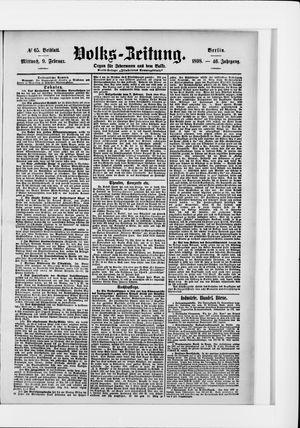 Volks-Zeitung vom 09.02.1898