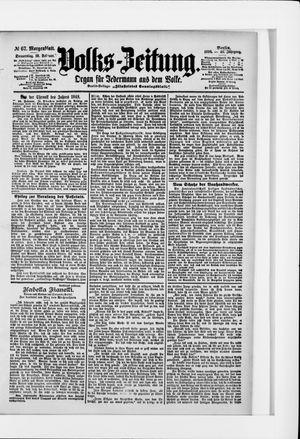 Volks-Zeitung vom 10.02.1898