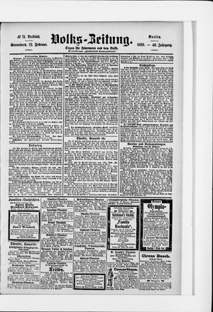Volks-Zeitung vom 12.02.1898