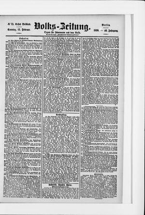 Volks-Zeitung vom 13.02.1898