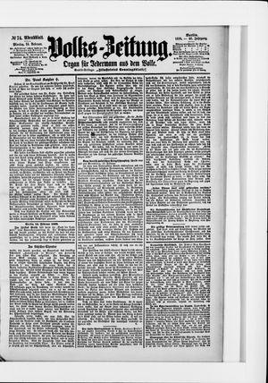 Volks-Zeitung vom 14.02.1898