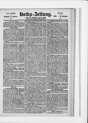 Volks-Zeitung vom 16.02.1898
