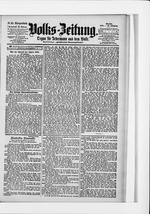 Volks-Zeitung vom 19.02.1898