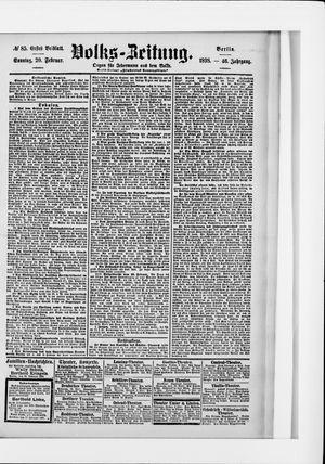 Volks-Zeitung vom 20.02.1898