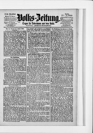 Volks-Zeitung vom 21.02.1898