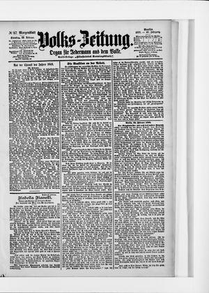 Volks-Zeitung vom 22.02.1898