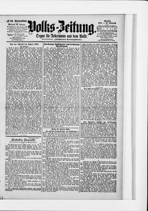 Volks-Zeitung vom 23.02.1898