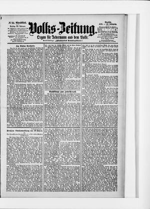 Volks-Zeitung vom 25.02.1898