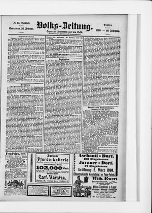 Volks-Zeitung vom 26.02.1898