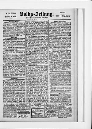 Volks-Zeitung vom 08.03.1898